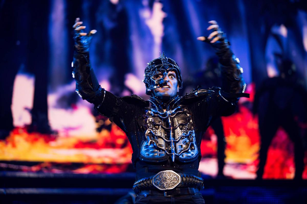 Close up view of the villian in Lord of the Dance Dangerous Games