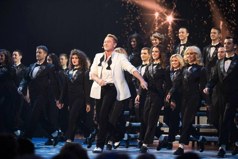 Michael Flatley and the Irish dance group Lord of the Dance perform the final number of the show